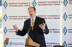Mayor Berry at Sandia Science & Technology Park