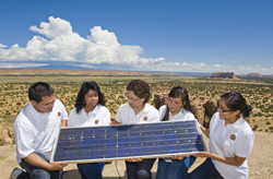 Interns with Sandra Begay-Campbell