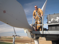 Jon White will lead installation of turbines at the new Lubbock site.
