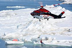 Helicopter Arctic Ocean