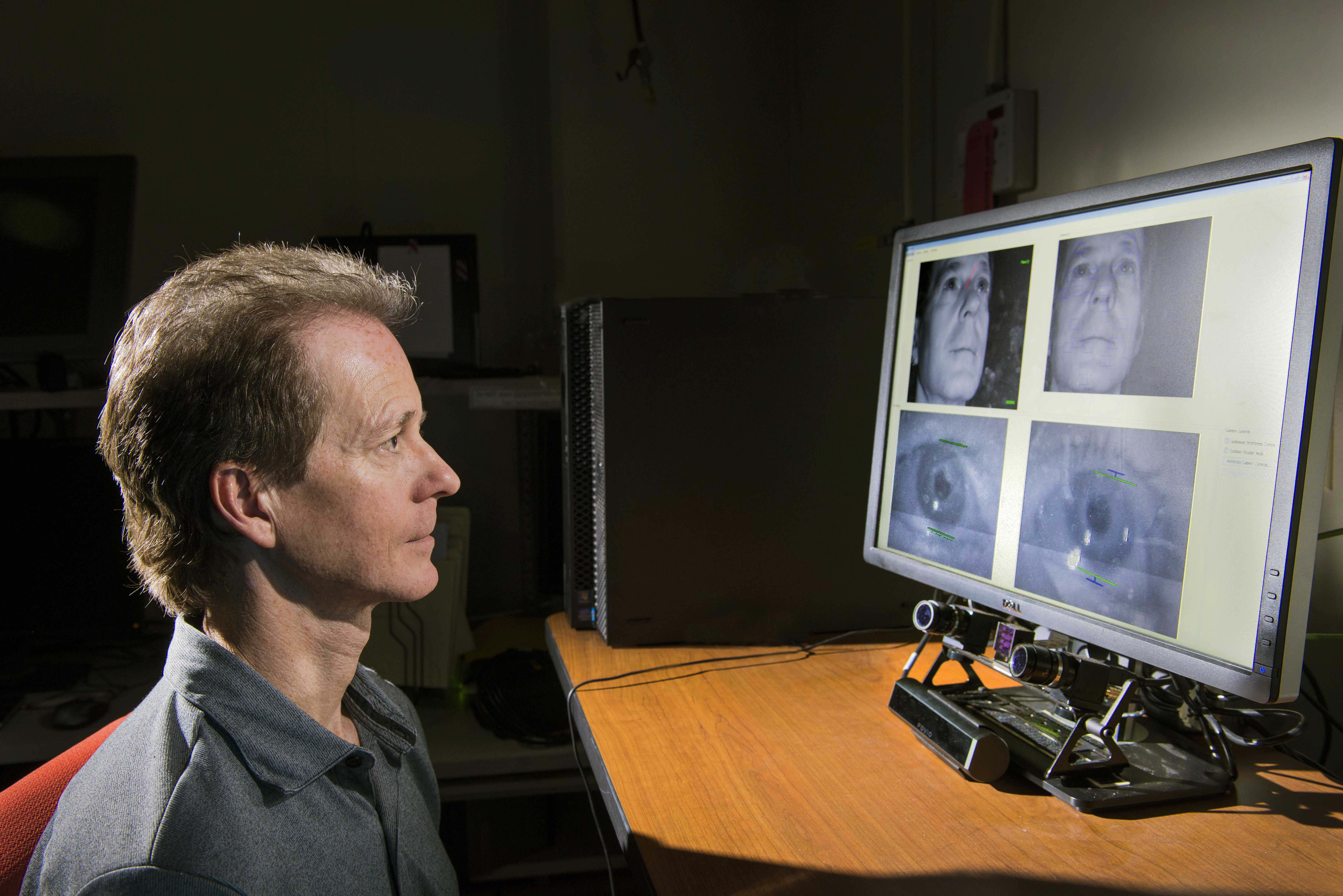 Researcher Looks To Eye Tracking Device >> Sandia National Laboratories News Releases Sandia Teams With