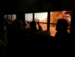 The Generation Beyond: Mars Experience Bus will stop in Albuquerque the week of Oct. 24, giving students a unique opportunity to visit the surface of Mars. (Photos courtesy of Lockheed Martin Corp.)