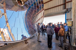 OSELP group explores Sandia's solar test facility