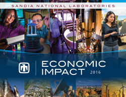 Sandia National Laboratories' 2016 Economic Impact brochure shows xxx. (Image courtesy of Sandia National Laboratories) Click on the thumbnail for a high-resolution image.