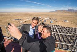 Solar tower selfie