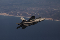 F-35A fighter jet in flight