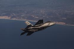 F-35A fighter jet in flight