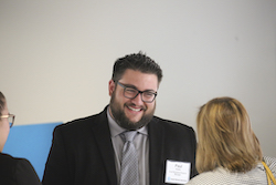 small-business program manager Paul Sedillo presenting to small-business representatives and owners during a forum last year