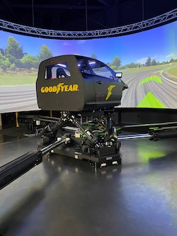 Goodyear dynamic driving simulator.